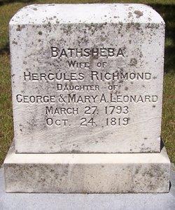 Bathsheba <I>Leonard</I> Richmond