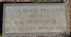 Etta <I>Beach</I> Francum