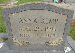 Anna <I>Whitner</I> Kemp