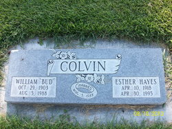 Esther Leona <I>Hayes</I> Colvin