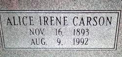 Alice 'Irene' <I>Weirich</I> Carson