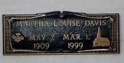Martha Louise <I>Thompson</I> Davis