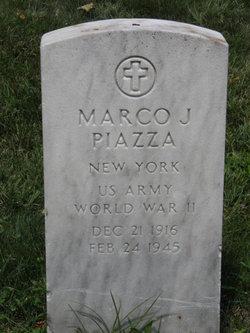 Sgt Marco J. Piazza