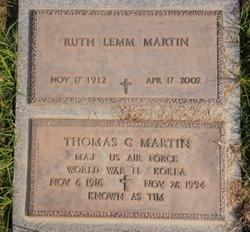 Ruth Katherine <I>Lemm</I> Martin