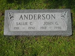 """Sarah C """"Sallie"""" <I>McKindsey</I> Anderson"""