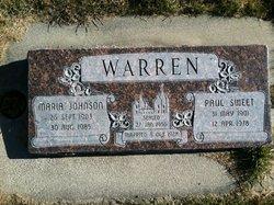 Maria <I>Johnson</I> Warren