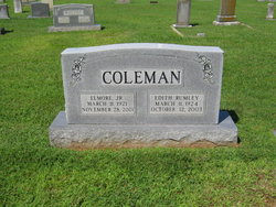 Edith Maxine <I>Rumley</I> Coleman