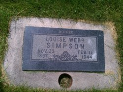 Louise <I>Webb</I> Simpson
