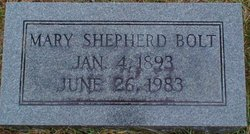 Mary Lee <I>Shepherd</I> Bolt