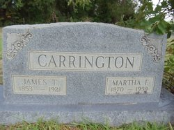 "Martha Frances ""Fannie"" <I>Smith</I> Carrington"