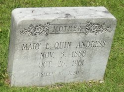 Mary E <I>Quinn</I> Andress