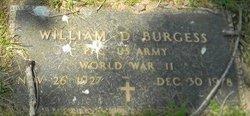 William D Burgess