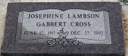 Josephine <I>Lambson</I> Cross