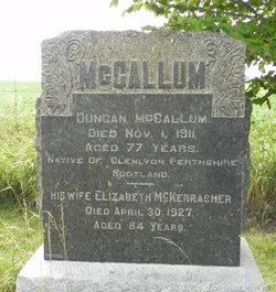 Elizabeth <I>McKerracher</I> McCallum