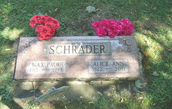 Alice Ann <I>Meyer</I> Schrader