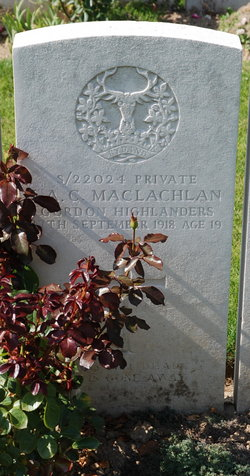Private John Alexander Churchill MacLachlan