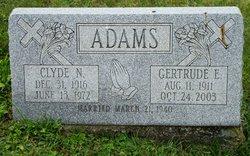 Gertrude Elizabeth <I>McKissick</I> Adams