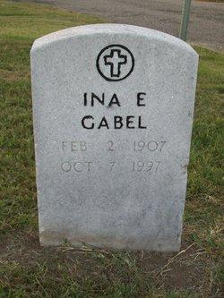 Ina E <I>Moline</I> Gabel
