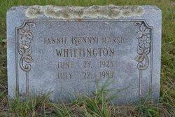 """Fannie """"Sunny"""" <I>Marsh</I> Whittington"""