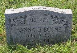 Hanna D Boone