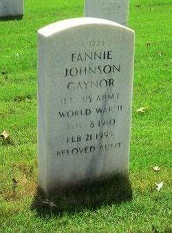 Lieut Fannie Johnson Gaynor