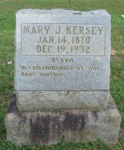 Mary J. <I>Finster</I> Kersey