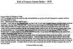Frances <I>Garrett</I> Butler
