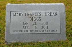 Mary Frances <I>Jordan</I> Diggs