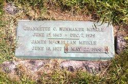 Jeannette C <I>Nunmaker</I> Meikle