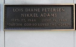 Lois Diane <I>Petersen Nikkel</I> Adams