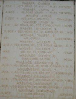 2Lt William A Walker