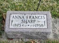 Anna Frances <I>Hoover</I> Sharp