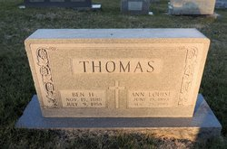 Benjamin Harrison Thomas, Sr