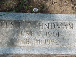 Elsie Ella <I>Thomas</I> Hindman