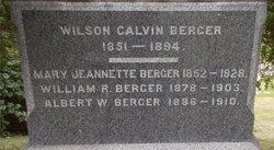 Wilson Calvin Berger
