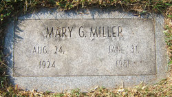 Mary G. <I>Baldridge</I> Miller