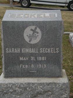 Sarah Gheen <I>Kimball</I> Seckels