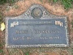 Mary Leigh <I>Clarke</I> Wilkerson