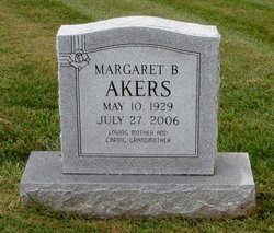 Margaret Ann <I>Brown</I> Akers