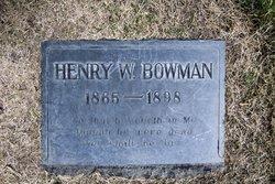 Elder Henry Willard Bowman