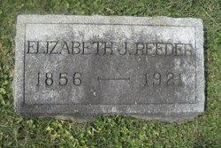 Elizabeth J. <I>Evans</I> Reeder