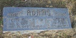 """Etta M """"Edie"""" <I>Watkins</I> Adams"""