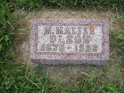 """Martha Malise """"Lizzie"""" <I>Amundson</I> Olson"""