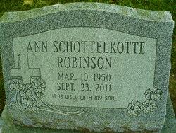 Ann <I>Schottelkotte</I> Robinson