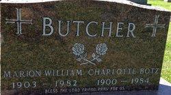 Charlotte Ann Justina <I>Botz</I> Butcher