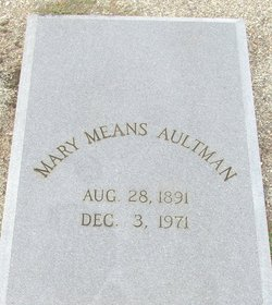 Mary Means Aultman