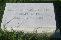 Betty <I>Richards</I> Callon