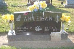 Betty Ann <I>Seidel</I> Ahleman