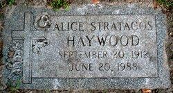 Alice <I>Stratacos</I> Haywood