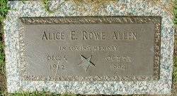 Alice E <I>Rowe</I> Allen